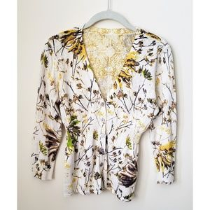 Gorgeous Spring Floral Sweater, Size S